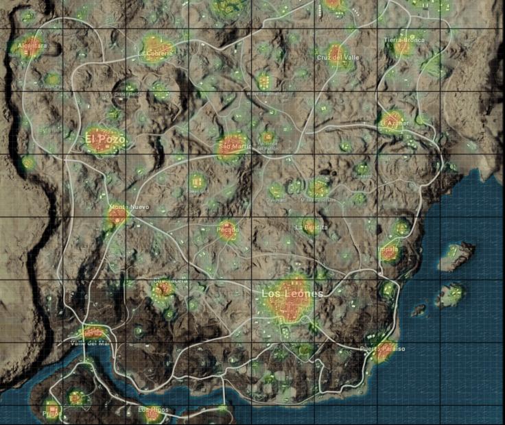 Miramar Map - Loot Heat